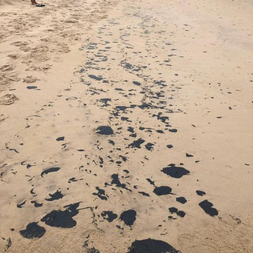 Manchas de óleo encontradas em praias do Nordeste não são brasileiras