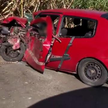 Homem morre após acidente entre caminhão e carro na BR-408, em Aliança