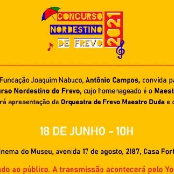 Lançamento oficial do Concurso Nordestino do Frevo será no próximo dia 18