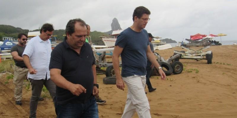 Ricardo Sales também garantiu recursos para serviços de infraestrutura na ilha
