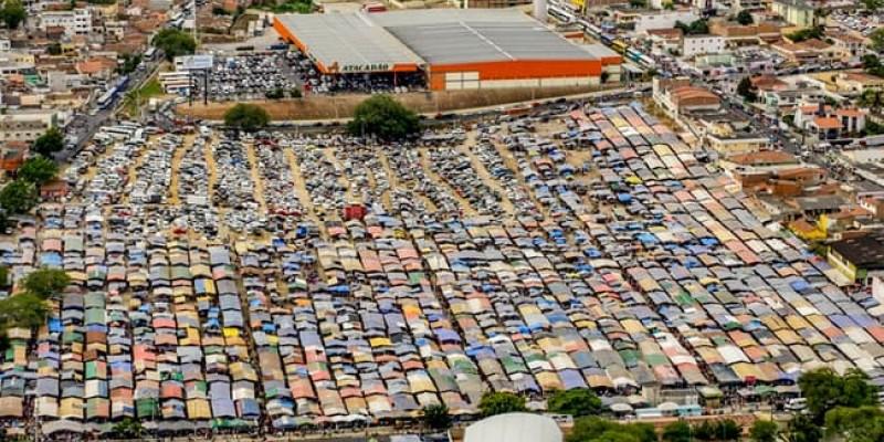 As feiras ficaram paralisadas desde março deste ano por conta da pandemia da Covid-19