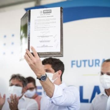 Projeto de nova sede da Escola Municipal Jardim Uchôa em Areias é lançado pelo Prefeito João Campos