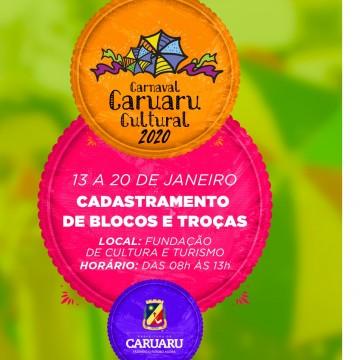 Prefeitura de Caruaru abre cadastramento de blocos e troças no dia 13 de janeiro