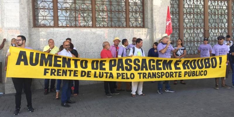 A intenção, segundo os organizadores, é chamar a atenção para a necessidade de melhorias no sistema de transporte público da Região Metropolitana
