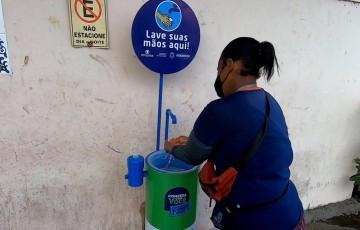 Compesa instala lavatórios de mãos públicos em mais uma ação social de combate ao coronavírus no estado