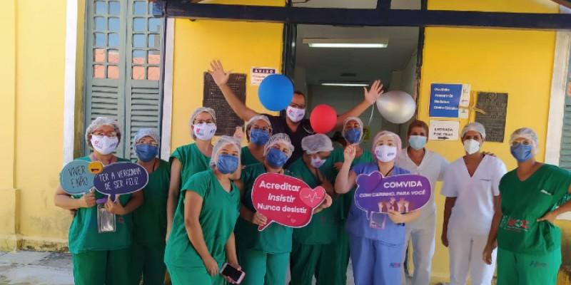 Também foi comemorada a milésima alta de paciente com a covid-19 no Hospital Universitário Oswaldo Cruz