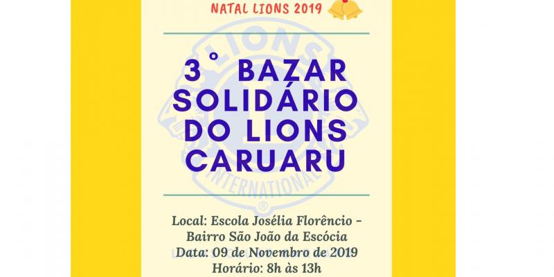 Ação promovida pelo Lions Caruaru tem como objetivo arrecadar verbas para a festividade natalina solidária organizada pelo clube