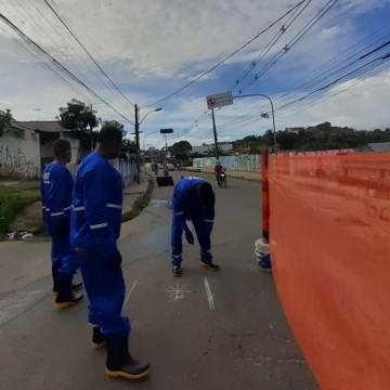 Começa obra de requalificação da principal avenida do bairro de Caixa D'Água