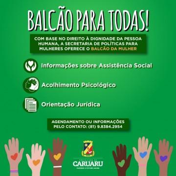 Secretaria da Mulher de Caruaru disponibiliza serviços para a população