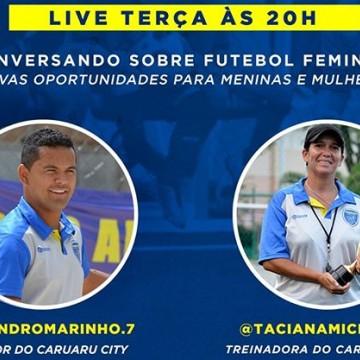 Caruaru City promove bate-papo online sobre o futebol feminino nesta terça
