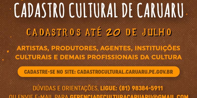 Agentes de cultura individuais ou coletivos (grupos, trupes, companhias, instituições, empresas e coletivos artísticos das mais diversas linguagens), e também espaços de cultura devem se cadastrar