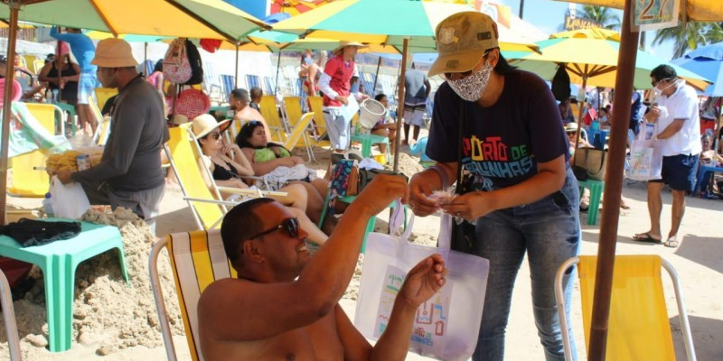 Prefeitura do Ipojuca promove ação de conscientização do uso da máscara no feriado