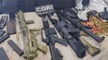 Fuzis e explosivos são apreendidos pela Polícia em Gravatá