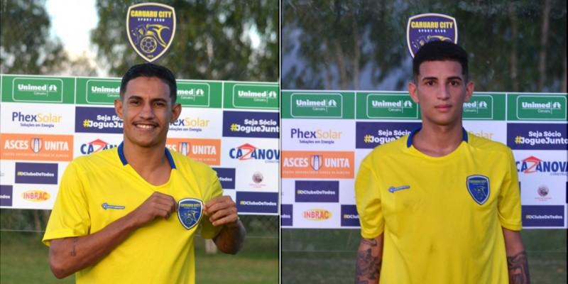 O clube também apresentou oficialmente o meia-atacante Leonardo Santos, conhecido por Leozinho, de 22 anos