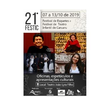 Foi divulgada a programação do Festival de Esquetes e Teatro Infantil de Caruaru (Festic)