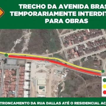 Prefeitura de Caruaru inicia reparos na Avenida Brasil
