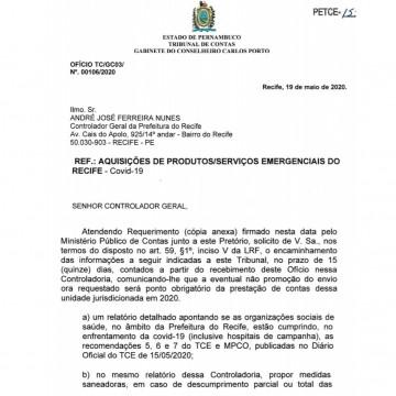 Relator do TCE cobra transparência nos gastos dos hospitais de campanha do Recife