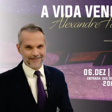 Evento beneficente terá palestra do jornalista Alexandre Farias em Caruaru