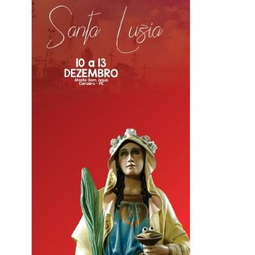 Tríduo de Santa Luzia inicia nesta terça (10) no Monte Bom Jesus