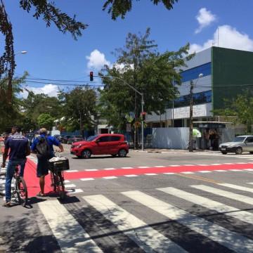 Ciclofaixa Santo Amaro inaugura e Recife atinge 100 km de malha cicloviária
