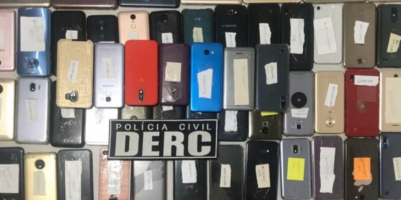 300 donos de aparelhos roubados, furtados ou perdidos foram devolvidos aos donos por meio de um mutirão promovido pela Secretaria de Defesa Social do Estado