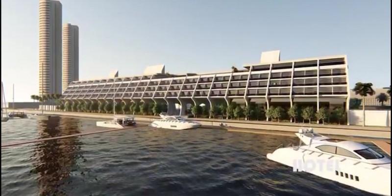 Região ganhará complexo multiuso, que vai integrar um hotel com marina e um centro de convenções. A expectativa é de gerar 3,3 mil empregos