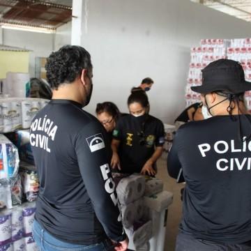 Polícia Civil e Ipem-PE realizam ação conjunta para combater irregularidades em fábrica de papel de Paulista