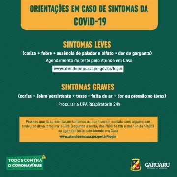 Serviços de testagem para Covid-19 são disponibilizados pela prefeitura de Caruaru