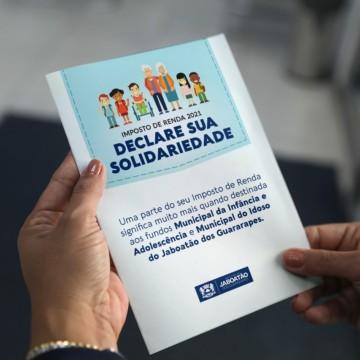 Jaboatão lança campanha para incentivar doação de Imposto de Renda