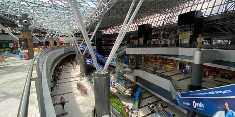 De acordo com dados da concessionária Aena Brasil, foram 726 mil pessoas chegando e saindo do terminal no último mês.