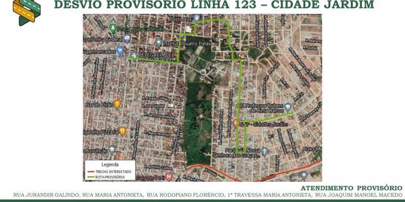 O transporte público, momentaneamente, não vai passar pelas ruas Venezuela e José B. de Carvalho