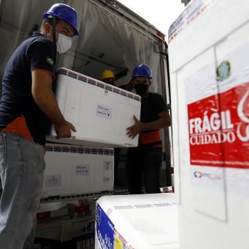 Pernambuco recebeu212.450 doses de vacinas contra a Covid-19