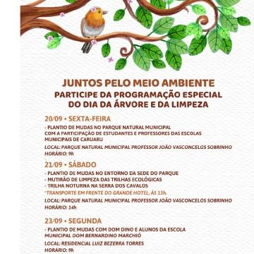Caruaru comemora o Dia da Árvore e o Dia Mundial da Limpeza com plantio de mudas e trilha