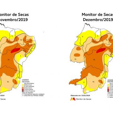 Monitor de Secas aponta seca em todo o território de Pernambuco