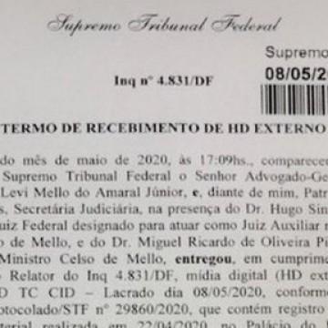 STF recebe gravação de reunião citada por Moro