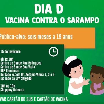 """""""Dia D"""" da Campanha Nacional de Vacinação contra Sarampo será no próximo sábado"""