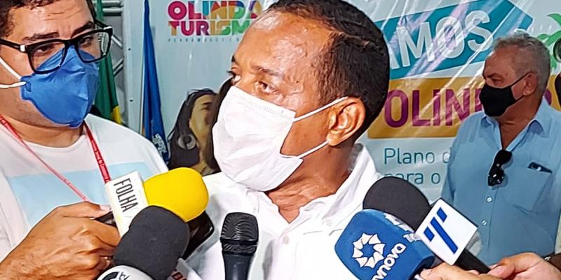 O prefeito de Olinda, professor Lupércio, disse que a cidade está preparada para o Carnaval de rua em 2022, caso a pandemia esteja controlada até lá