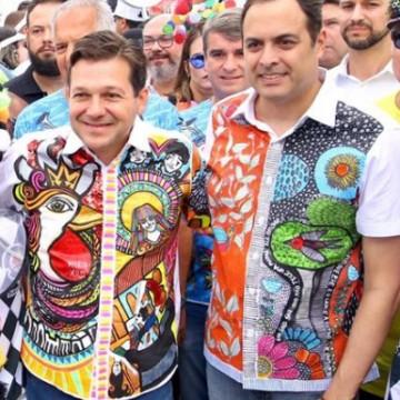 Geraldo Julio e Paulo Câmara celebram o Galo da Madrugada
