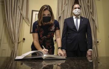 Nova secretária da Mulher foi empossada nesta quarta-feirano Palácio das Princesas