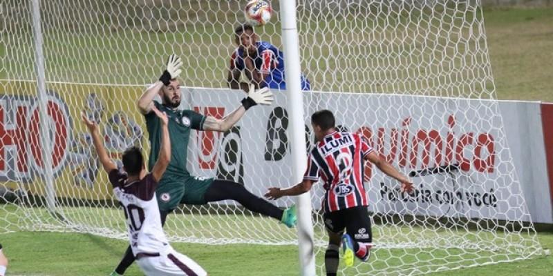 Placar final foi de 3x3. Resultado manteve a equipe coral na liderança do grupo A da Série C, do Brasileiro