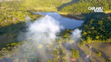 Incêndio atinge Reserva Ecológica de Serra dos Cavalos, em Caruaru