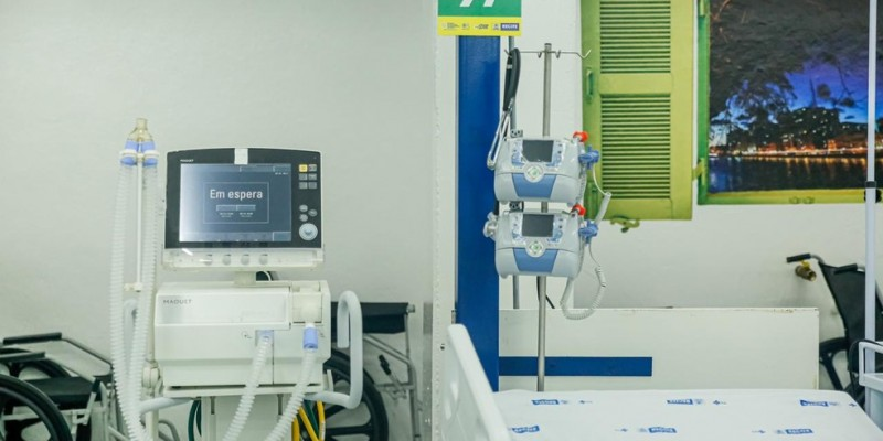 Quando os equipamentos estiverem instalados, a capital passa a ter 300 leitos de UTI nos hospitais de campanha