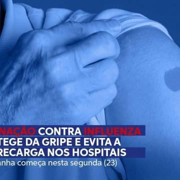 Vacinação contra a influenza começa nesta segunda-feira em todo o Brasil