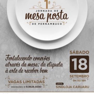 Inscrições abertas para a 1ª Jornada de Mesa Posta de Pernambuco