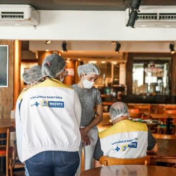 Bares e restaurantes do Recife recebem nova vistoria neste fim de semana
