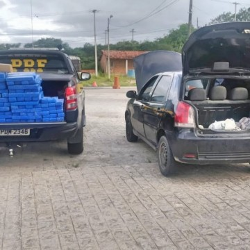PRF prende casal com 204 kg de maconha no Agreste de Pernambuco