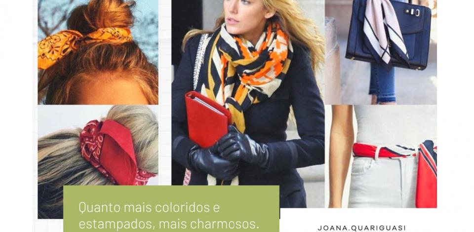 Diversas maneiras de usar lenço