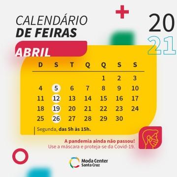 Confira as datas e horários de feiras do Moda Center Santa Cruz