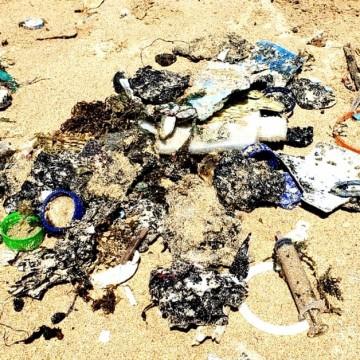 Resíduos de óleo e lixo oceânico são encontrados nas praias de Fernando de Noronha