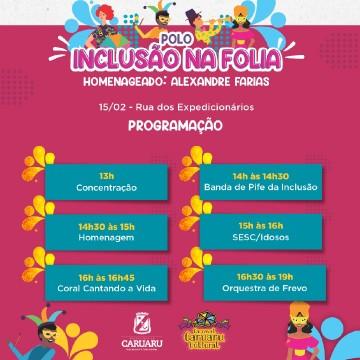 Jornalista Alexandre Farias será homenageado no Polo da Inclusão no Carnaval Caruaru Cutural